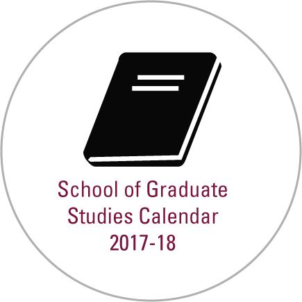 School of Graduate Studies Calendar 2017-18